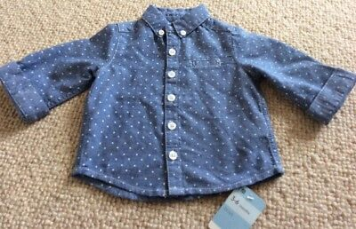 New With Tags Mothercare Gorgeous Baby Boys Blue Shirt Top 3-6 Months