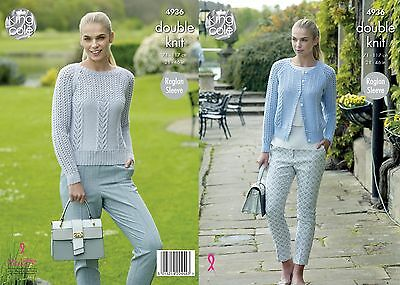 KINGCOLE 4936 ADULT DK KNITTING PATTERN  28-46 IN -not the finished garments
