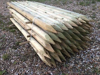 Round Pointed Timber Fence Posts Full Half FREE LOCAL DELIVERY Read Description