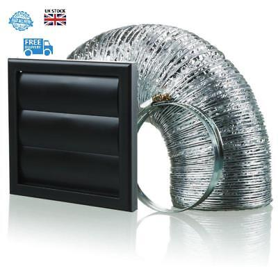 Fan Kit Extractor 150 mm Vent Ducting Kitchen Cooker Hood Wall Bathroom Silent