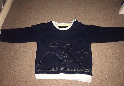 Nutmeg Boys Navy Jumper With Dinosaurs Age 18-24 Months 1.5-2 Years