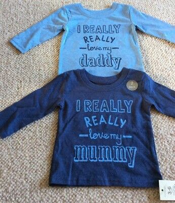 New With Tags Gorgeous Baby Boys Long sleeve Tshirt Top Bundle 3-6 Months