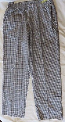 Chef Pants Checkered Black / White PST Brand Pre-Owned