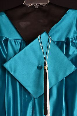 """Graduation Cap and Gown """" TEAL""""  size: 5'7"""" - 5'8"""""""
