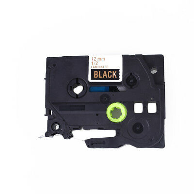 Compatible for TZE-334 TZ 12mm Label Tape Cassette Printer Gold on Black