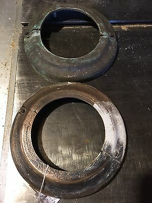2 Vintage Solid Brass Rings/escutcheons