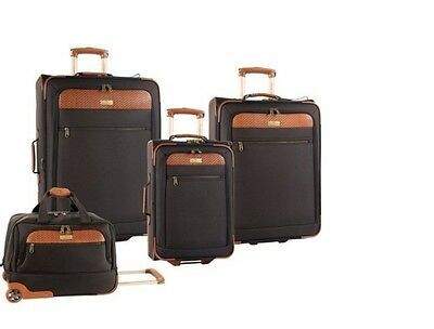 NEW Tommy Bahama Luggage Retreat Four-Piece Set Travel Choclate Bags