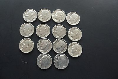 14 silver roosevelt dimes