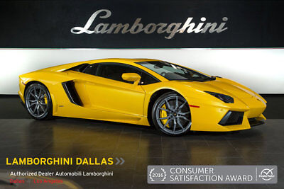 2014 Lamborghini Aventador LP700-4 Coupe 2-Door NAV + RR CAMERA + HOMELINK + DIONE WHLS + TRANSPARENT ENGINE
