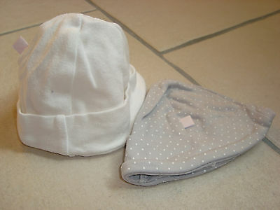 lot 2 bonnets en coton 0-3 mois TBE