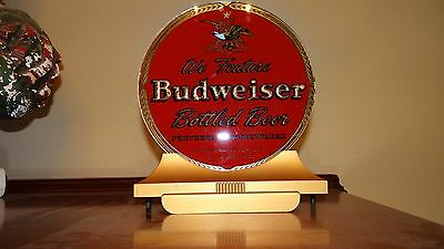 1940s Vtg Budweiser Beer St Louis Cash Register Sign Art Deco Reverse Glass NICE
