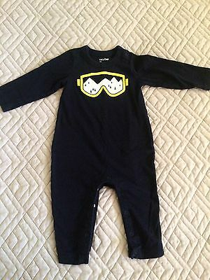 Baby Gap boys size 6-12 mos One Piece Navy Baby Toddler