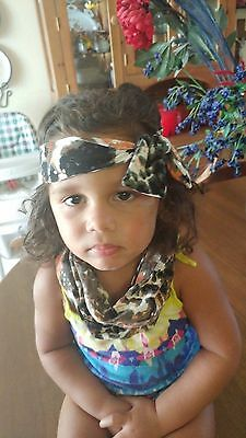 Toddler infinity scarf and matching headband