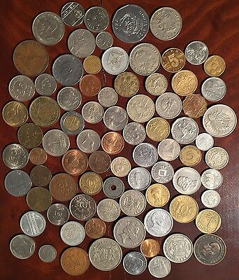 World coin lot , mixed foreign coins