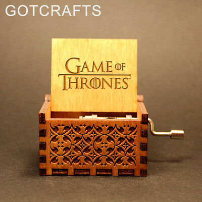 Game of Thrones - New Handmade Engraved Wooden Music Box - FREE US Shipping