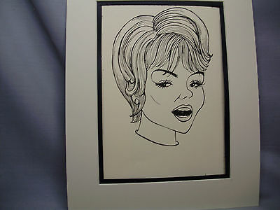Joey Heatherton Caricature Drawing from Studio 54 New York Famous Faces artist