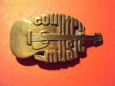 Vintage Belt Buckle Country Music Brass