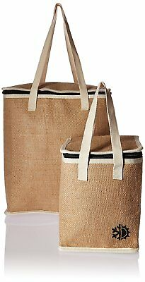 2 Piece Earthwise Insulated Reusable Grocery Shopping Bag Set 1 Small & 1 Large