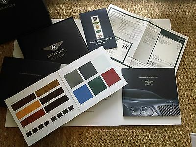 Original BENTLEY Continental GT Owners Presentation Book & Papers Sticker Car