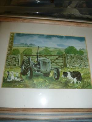 Andrew Hutchinson  Signed Print Framed The Pen