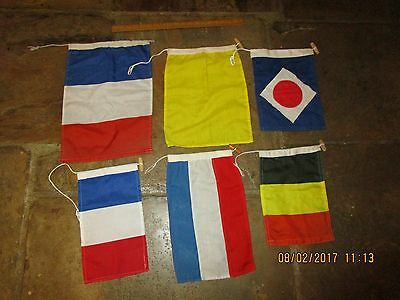 Good quality yacht signal flags - 6 flags .Signal Flags or Small Country Flags