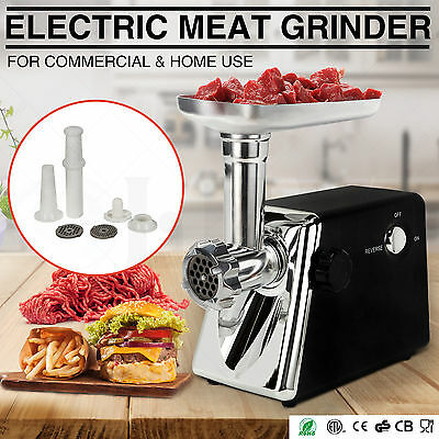 Commercial Electric Meat Grinder Industrial Food Mincer Sausage Maker Kitchen