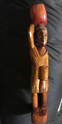 Wooden Statue Of Woman-Purchased In Dominican Republic