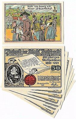 **1921 BUTZBACH Germany Banknote- COMPLETE Set of 8 NOTES! ~ German Notgeld