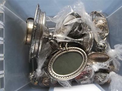 Sterling Silver 925 Mixed Lot Jewelry Compote Flatware Picture Frame 1,452 Grams