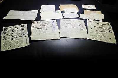 HUGE LOT World War 2 II Ration Book 1 2 3 4 certificate of fitness Selective ser