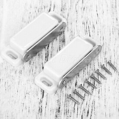 New 2x Magnetic Cupboard Door Catch Strong Furniture Cabinet Latches & Screws