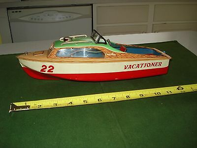 1950's LINEMAR (MARX) TIN BATTERY OPERATED BOAT