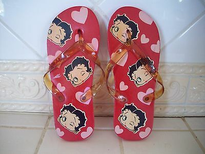 Betty Boop NEW Flip Flop Sandals - Red/Black - Sz M