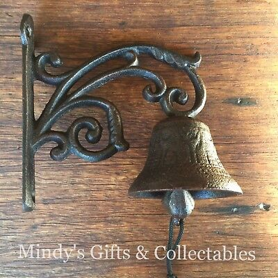 Antique Style Cast Iron Hanging Door Bell Wall Mounted
