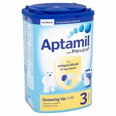 Aptamil with Pronutra+ Growing Up Milk Stage 3 1-2 Years *NEW 900g* 6 * tubs