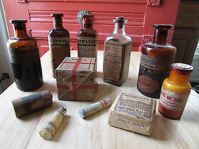 DRUGSTORE Pharmacy APOTHECARY Instant COLLECTION - 11 Bottles, Vials, Packages !
