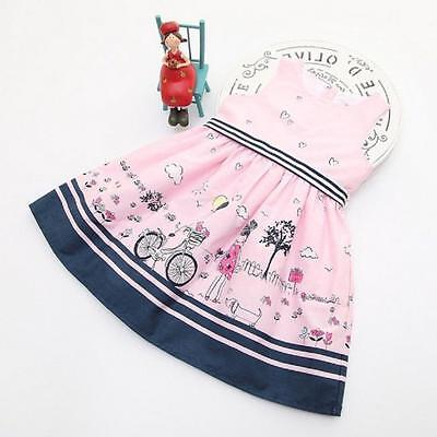 Toddler Kids Baby Dress Girls Pink Sweety Party Princess Casual Pageant 7T