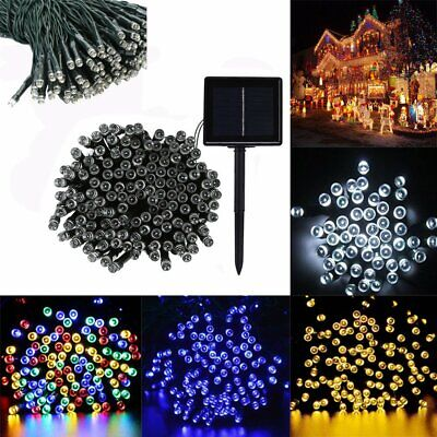 20 100 200 300 400 500 LED Solar/Electric Fairy Lights Garden String Party Xmas