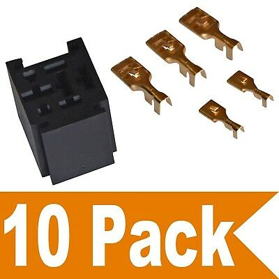 Ehdis 80 Amp Relay Connector 5 Pin Relay Socket with 5 Terminals: 2 x 6.3mm +...