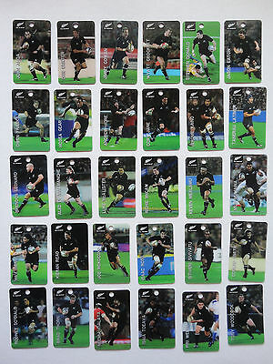 ALL BLACKS RUGBY UNION 3D CARDS 2010 -full set TEAM TAGS 30 CARDS ~ NEW ZEALAND