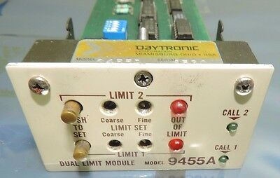 Daytronic 9455A Dual Limit Module  73469 A 73468 74499