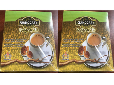 2 boxes Ganocafe Ginseng Tongkat Ali Instant Coffee Cafe