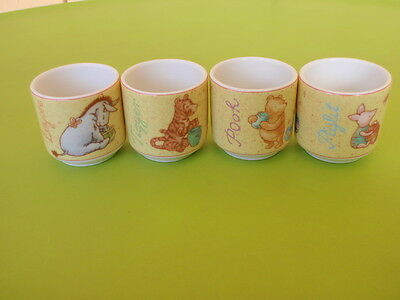 SET of 4 - ROYAL DOULTON  WINNIE THE POOH EGG CUPS - POOH TIGGER EEYORE  PIGLET