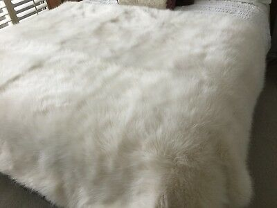 Luxury Faux Fur Bed Throw - made in England
