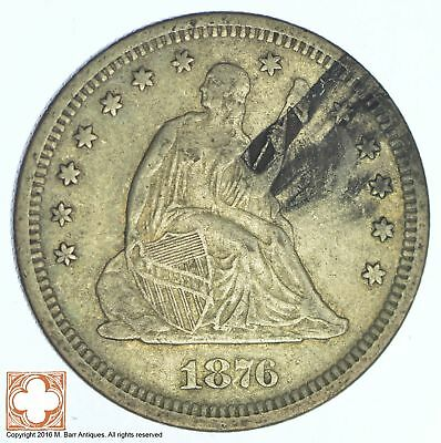 1876-S Seated Liberty Silver Quarter *XB35