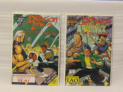 Lot of 2 Dragon Lines #1 & #2 (Marvel 1993)