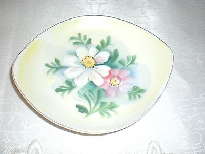 Miniature Plate Pin Dish Made In Japan Hand Painted Floral