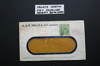 Private Perfin Kgv Envelope Advert Both Sides