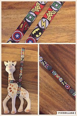 Baby Toy Sophie The Giraffe Harness Toy Saver Marvel Avengers Superhero Ribbon