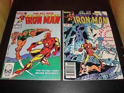 Iron Man 175 AND 176 Marvel Comic Book Lot Of 2 1985-86 VF-NM Condition 9.0